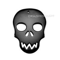 5pcs Black Resin Skull Head Charms.. on Luulla