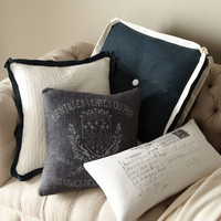 Navy & White Pillow Collection - Horchow