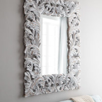 "White ""Stockton"" Mirror - Horchow"