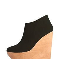 MAURIE & EVE Phoenix Suede & Wood Wedges - Black<br /> $306