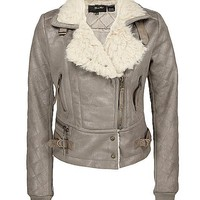 Miss Me Faux Fur Collar Coat - Women's Outerwear | Buckle