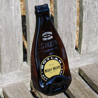 Boylan Root Beer Bottle - Recycled Fused Glass Tray - Spoon Rest Men's Gift
