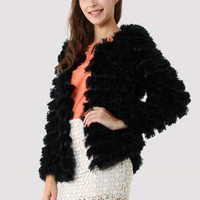 Faux Fur Coat in Black - New Arrivals - Retro, Indie and Unique Fashion