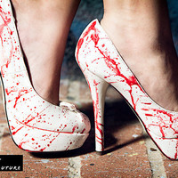Blood Splatter Heels-Great for Halloween! by Glamfoxx.com