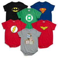 ThinkGeek :: Superhero Snapsuits