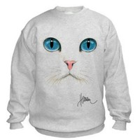 Cat Face Sweatshirt.