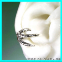 Talon ear cuff in solid sterling silver Right bird by RingRingRing