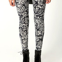 Victoria Monochrome Aztec Leggings