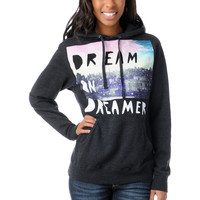 Dream On Dreamer Skyline Grey Hoodie