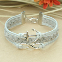 Fashion infinity Bracelet-Infinity karma bracelet-Anchor bracelet