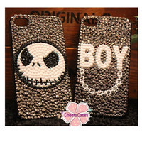 Handmade hard case for iPhone 4 & 4S: Bling Halloween gift(custom are welcome)
