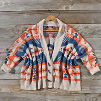 Navajo Sunset Sweater in Orange, Sweet Rugged Women's Clothing