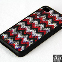 Ancient fabric iPhone 4 iPhone 4S Case, Rubber Material Full Protection
