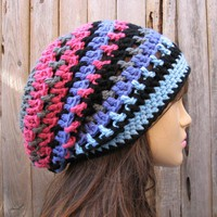 Crochet Hat - Slouchy Hat -Multicol.. on Luulla