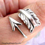 925. Cupid&#x27;s Arrow - Sterling Silver ring for men &amp; women, Size adjustable, Promise ring 101812