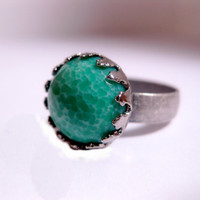 Jade Green Cocktail Ring