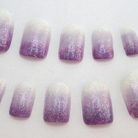 Nails Ombre Purple Gradient