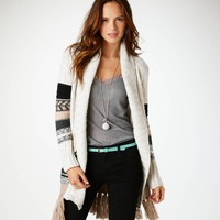 AE Fair Isle Sweater Coat | American Eagle Outfitters