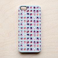 Cat iPhone 5 4 4S Case iPhone 4 New Print Pattern Blue Kitten Cute Kawaii