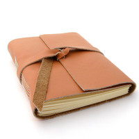 Handmade Leather Journal A Bit of Provence by peaseblossomstudio