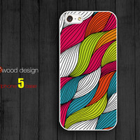 NEW case for iphone 5 iphone 5 cases  iphone 5 cover the best iphone case abstract colorized curve graphic design printing