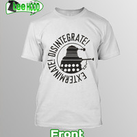 "Man T-Shirt ""Disintegrate Dalek-Dr.Who "" Size S-XXL Made To Order"