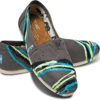 Tyler Ramsey Hand Painted Stripes Ash Women&#x27;s Classics | TOMS.com
