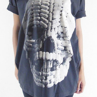Skull T-Shirt Skull Capsule T-Shirt Day Of The Dead Art Skull Shirt Unisex T-Shirt Women T-Shirt Men T-Shirt Black Tee Shirt Size M