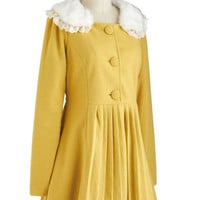 Silence is Goldenrod Coat | Mod Retro Vintage Coats | ModCloth.com