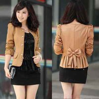 New Womens Business Double-breasted Slim Fit Puff Sleeve Suit Blazer Jacket Coat