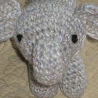 Gray and Light Blue Cuddly Elephant Stuffed Plush