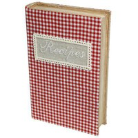 Gingham Recipe Book Storage Box | DotComGiftShop