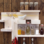 Spice Rack Kitchen Shelf Cross Stitch Decor