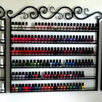 Ultimate ... Three piece custom wrought iron nail polish rack