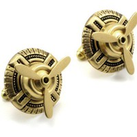 Sky Captain Cufflinks  STEAMPUNK AIR SHIP by spunksweetshoppe