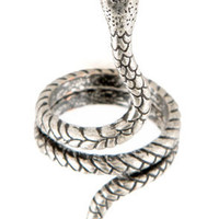 Copperhead Honcho Silver Snake Ring