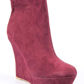 Faux Suede Wedge Boot | Sexy Clothes Womens Sexy Dresses Sexy Clubwear Sexy Swimwear | Flirt Catalog