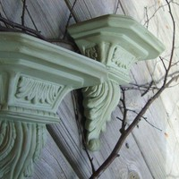 Shabby Chic Wall Sconces  One Set by PetiteSophisticateDz on Etsy