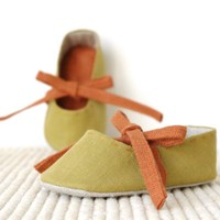Baby ballet flats slippers Mini Zen ballerina shoes by LaLaShoes