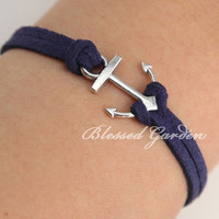 Anchor bracelet, navy bracelet, ocean bracelet, little silver anchor, gift to bestfriend,I&#x27;m an anchor