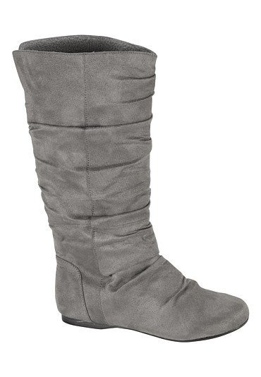 remy faux suede slouchy boots from maurices my shoes