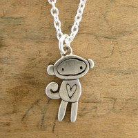 Handmade Gifts | Independent Design | Vintage Goods Sock Monkey Necklace - Back in Stock