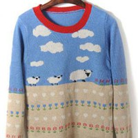 Cartoon Long-sleeved Sweater  S003197