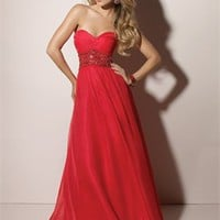 Column Sweetheart Neckline Beaded Prom Dresses PDM105