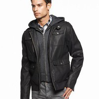 GUESS Jacket, Zip Up Moto Jacket - GUESS - Men&#x27;s - Macy&#x27;s