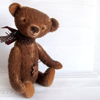 Artist Teddy Bear Sean OOAK of chocolate broun by zverrriki
