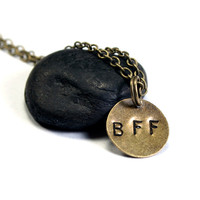 Personalized Necklace - BFF  - Best Friends Forever