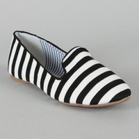Starla-33 Striped Loafer Flat