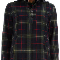 Red checked hooded shirt - Tops  - Clothing