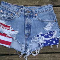 Custom Made American Flag Shorts